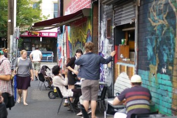 Outside Wall Cafe