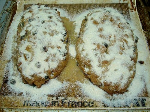 Stollen covered in Ginger Sugar