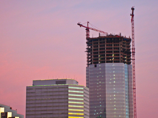 Devon Tower construction - May 21