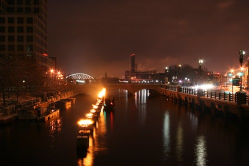 WaterFire NYE 2009