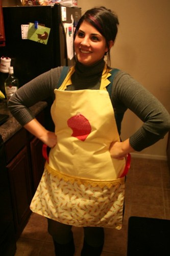 Rocking the apron