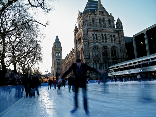 Ice Skating At The Natural History Museum London