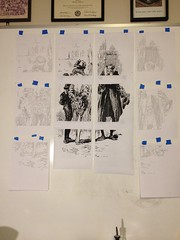 Panels for large drawing