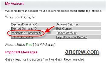 Manage Domain Gratis CZ.CC   NameServer