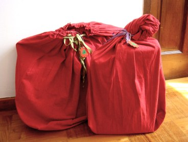 Handmade drawstring gift bags