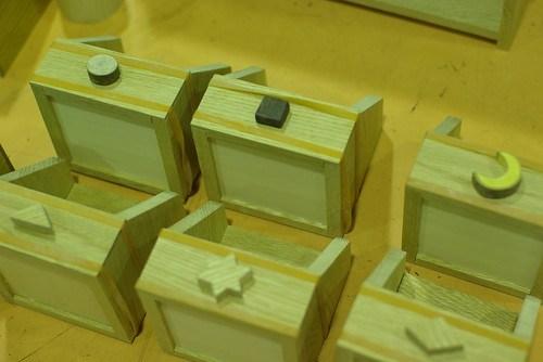 木の小さな棚と箱づくり⑦