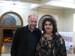 Cu scriitorul ucrainean de expresie rusă Andrei Kurkov, la Gaudeamus Iași, în octombrie 2013