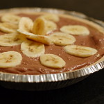 (No Bake) Chocolate Peanut Butter Banana Tofu Pie