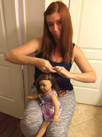 yeah, I'm doing a doll's hair.