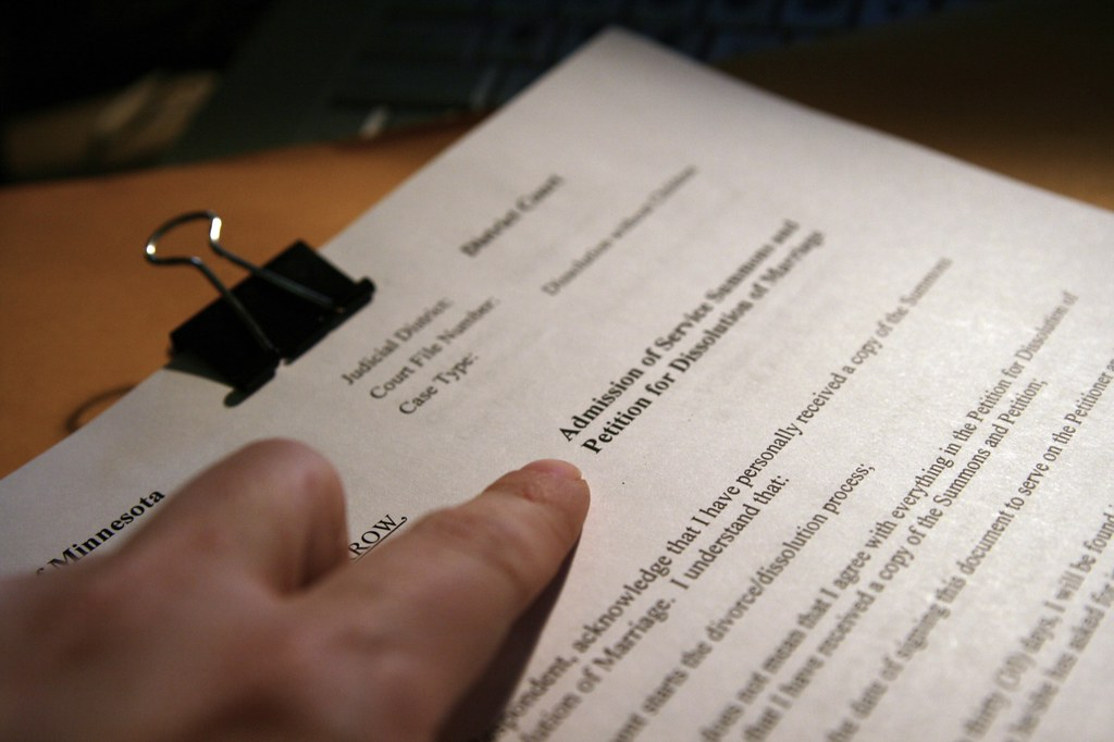 Petition for Dissolution of Marriage Divorce papers? Signe\u2026 Flickr