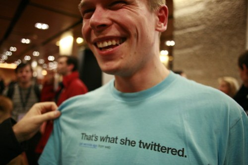 Fun Twitter shirt seen at LIFT