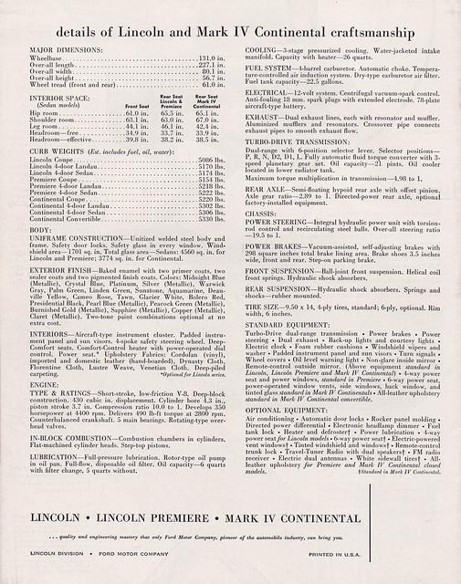 1961 lincoln continental mark iv