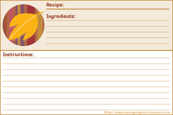 Custom Card Template » Microsoft Word Recipe Card Template - Free - free recipe card templates for microsoft word
