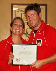 James wins an award