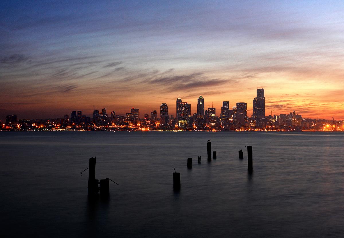 Seattle Washington Fall Skyline Wallpaper Pre Dawn Seattle From Alki Beach A Photo On Flickriver