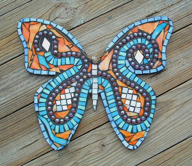 Mosaic Pendant Light Butterfly Mosaics - A Gallery On Flickr