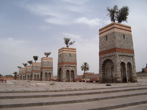 Part of the Marrakech City wall.