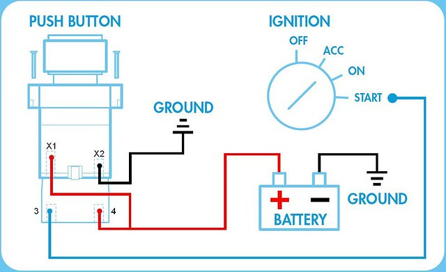 push on switch wiring diagram