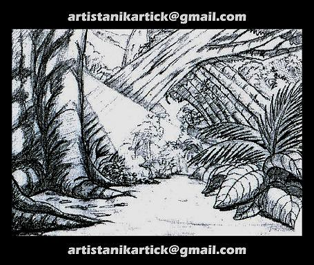 PENCIL Sketch work - Background sketch -11- Artist ANIKARTICK - a - background sketches