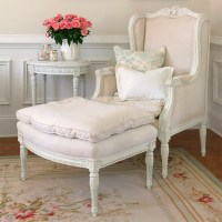 Shabby Chic Chair and Ottoman | Flickr - Photo Sharing!