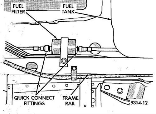 2000 chrysler concorde fuel filter location