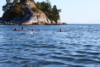 Cooling off at Whytcliff Park