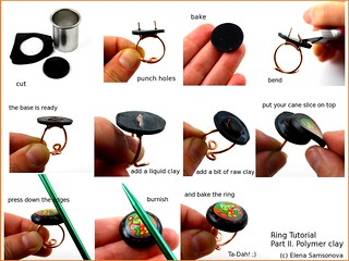 Ring Tutorial. Part 2. Polymer clay.