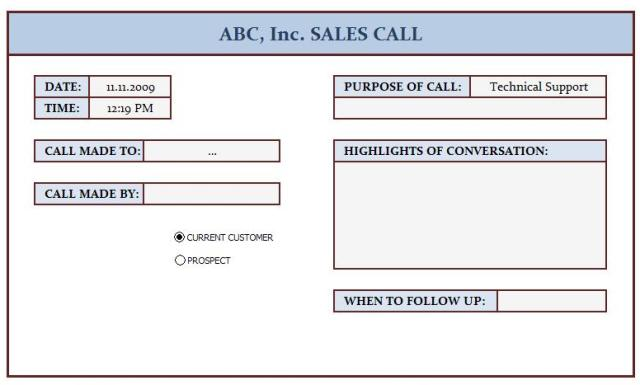 Sales Log Template legal template word lukex call log template - sales call report template