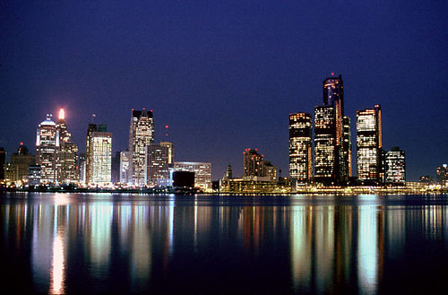 3d Winter Wallpaper Free Detroit Skyline At Night Rpm Photo Flickr