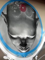 Cerebro Alzheimer cabeza cráneo