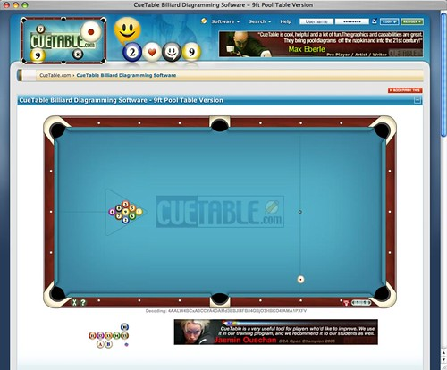 CueTable Billiard Diagram Software - Pool Table Version Flickr