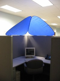 CubeShield - Cubicle Roof | CubeShield blocks out ...