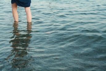 Wading in at Dundarave Beach