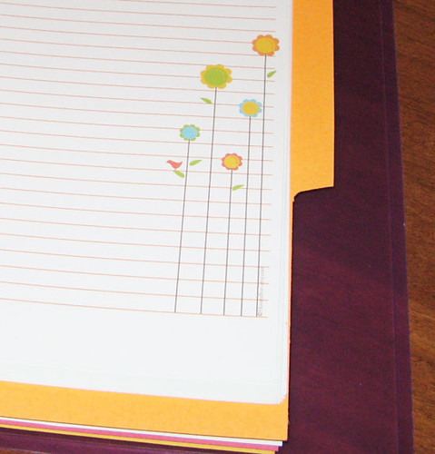 Printable Notebook Paper - Flowers JUST PRINT and PUNCH! I\u2026 Flickr