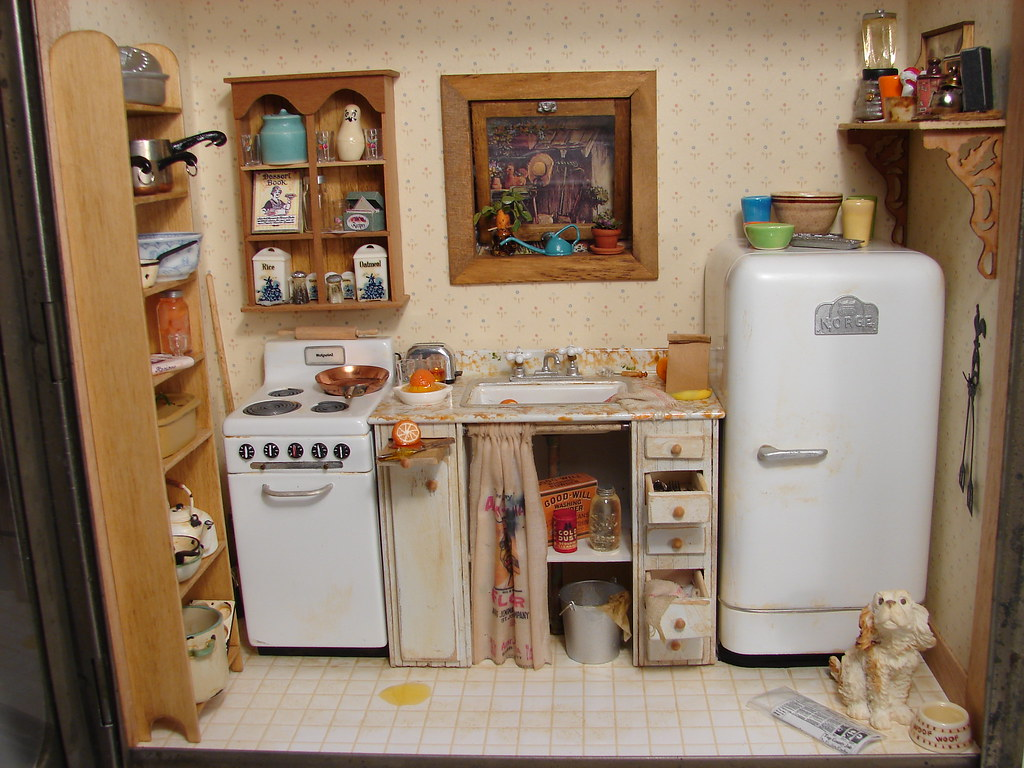Puppenhaus Küche Modern Uneeda Bread Kitchen Scene 1 12 Scale Dollhouse Miniature