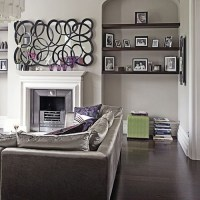 Modern Chic Grey and Purple Living Room | Flickr - Photo ...