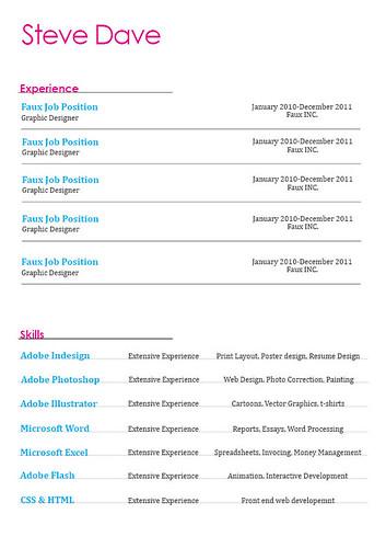 44 Amazing Resume / CV Examples - resume page layout