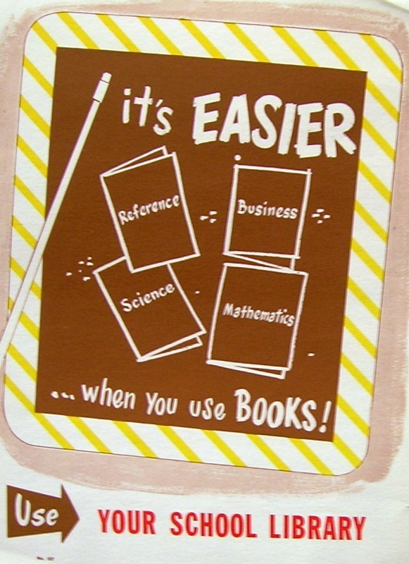 RETRO POSTER - It's Easier ... When You Use Books!