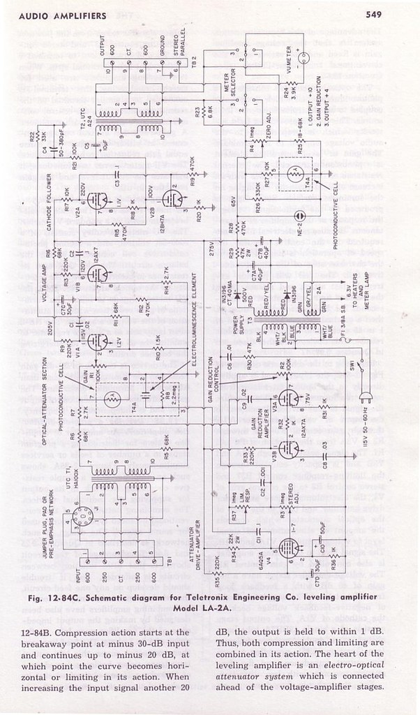 optical audio compressor schematic