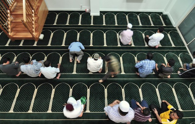 Prayers at Gold Cost Mosque, Queensland