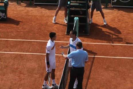 Novak Djokovic and Michael Llodra
