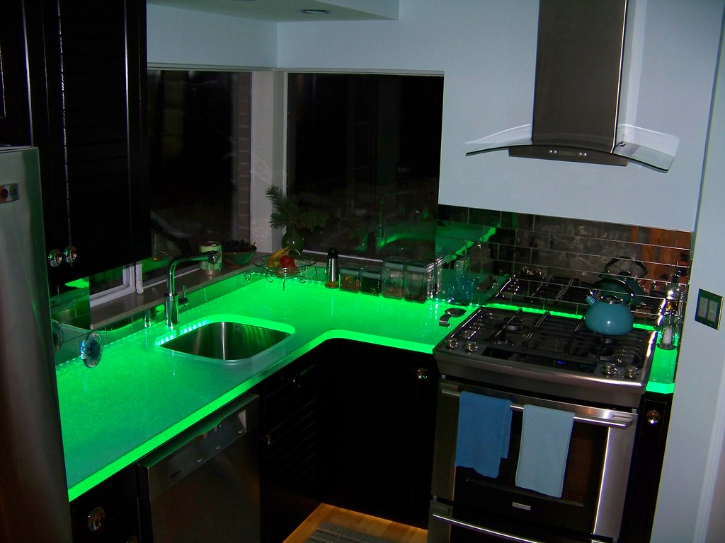 Think Glass Countertops Thinkglass Led Illuminated Glass Countertop Thinkglass Flickr