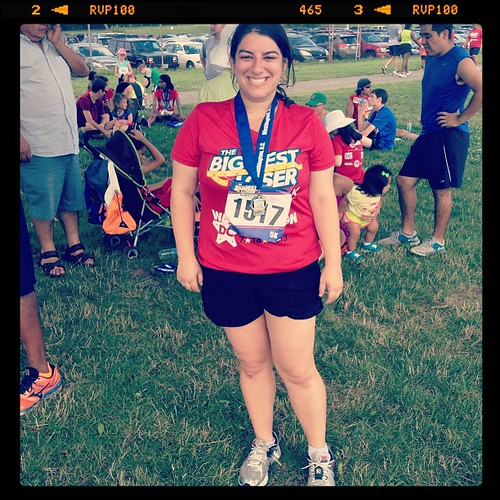 Big congrats to @emilyyahr for rocking the biggest loser 5K this morning.