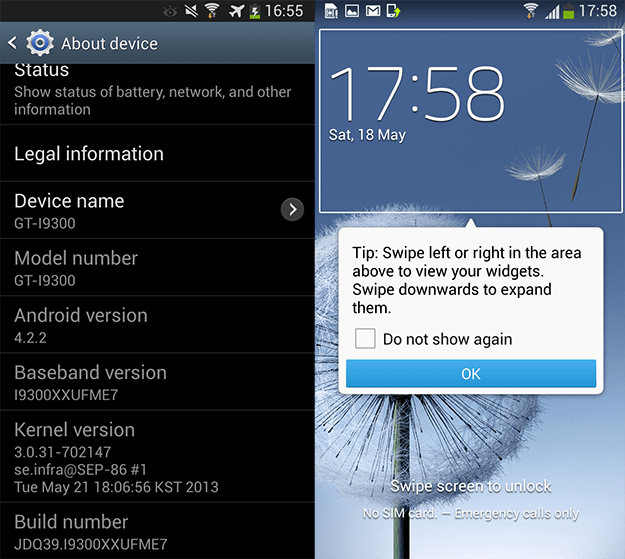 Android 4.2.2 para Galaxy S3