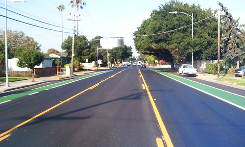 Hedding Street green bikeway San Jose