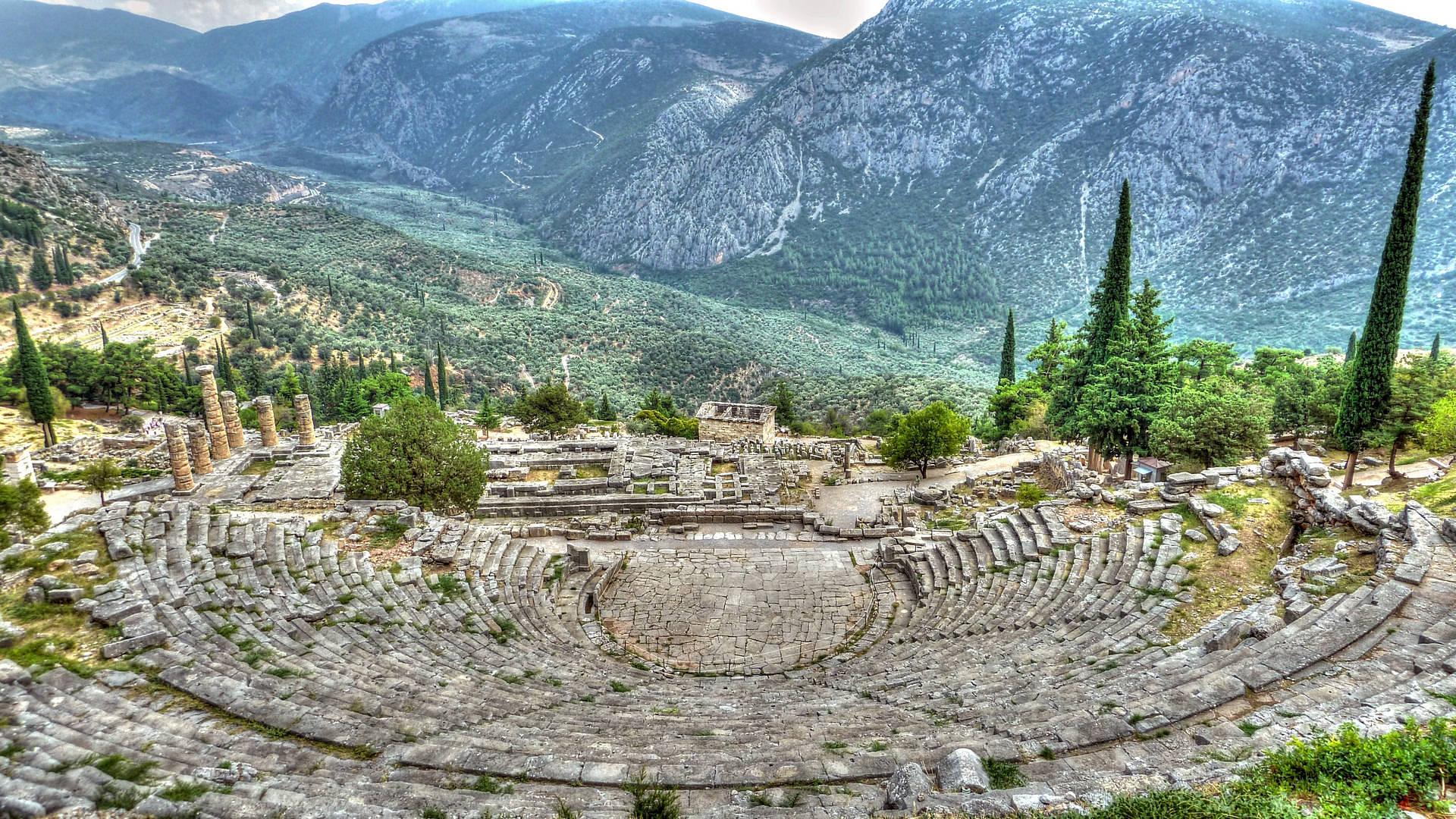 Fall Stars Wallpaper Elevation Of Delphi Greece Maplogs