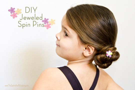 DIY Jeweled Spin Pin