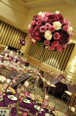 Custom Stands by M & P Floral and Event Production