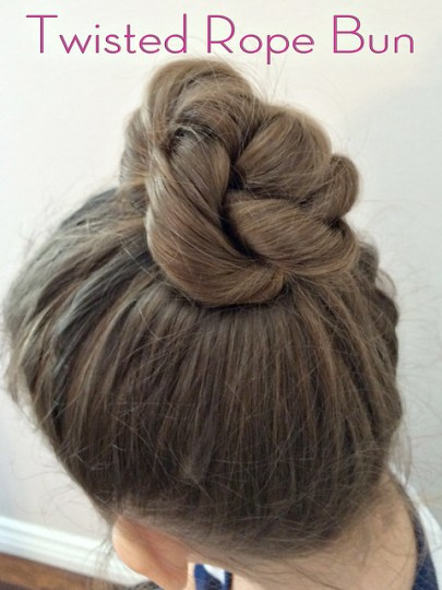 Twisted Rope Bun
