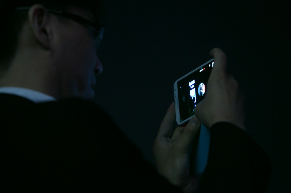 Durante la presentación de nuevos dispositivos de Samsung, el público pudo acceder a probarlos. (Tetsu Espósito)